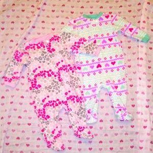 NWOT x2 Garanimals Fleece Sleepers 3-6 months